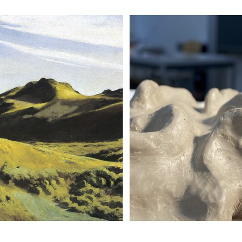 Landschaft von Malerei zu Plastik. Vergrösserte Ansicht
