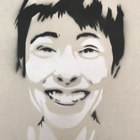 Stencil   Deckblatt der persönlichen Zeichenmappe. Vergrösserte Ansicht